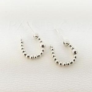 Pandora String Of Beads Hoop Earrings # 297532